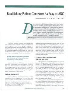 Establishing Patient Contracts