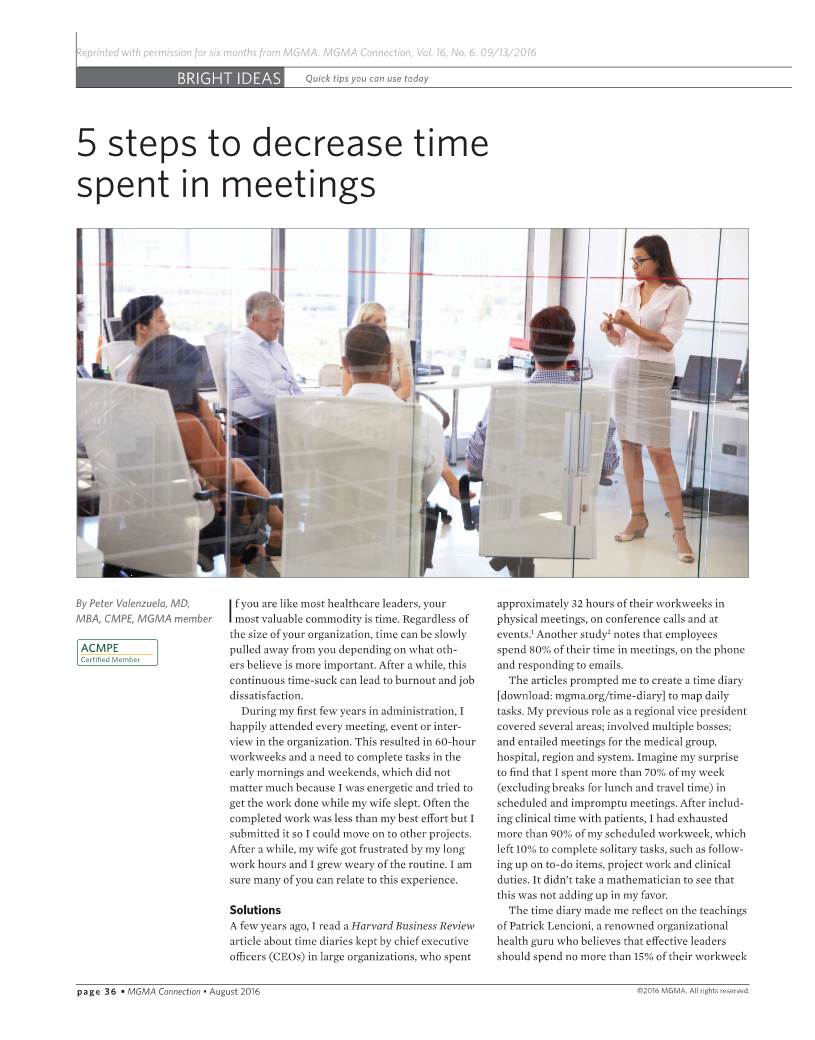 5 Steps to Cut time Spent in Meetings